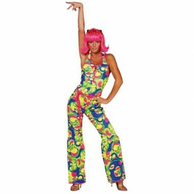 Kostuum  Gekleurde dames seventies kleding carnaval