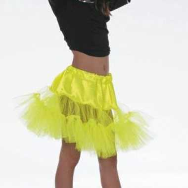 Kostuum  Gele petticoat onderrok meiden carnaval