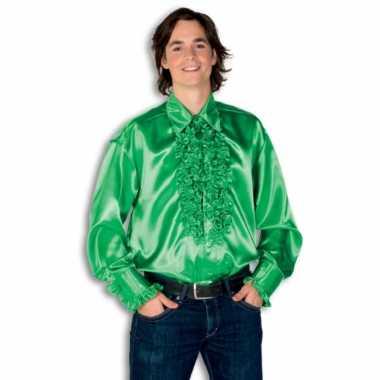 Kostuum groen rouches heren carnaval