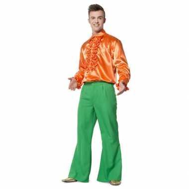 Kostuum  Groene seventies broek heren carnaval