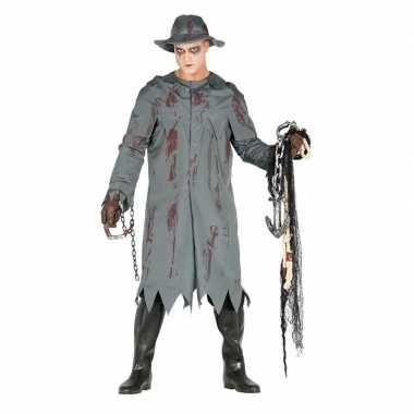 Kostuum halloween verkleed regenjas hoed heren carnaval