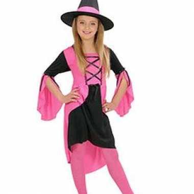 Kostuum  Heksenjurkje meisjes roze carnaval