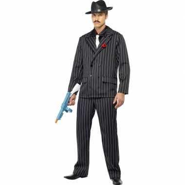 Kostuum  Heren Gangster carnaval kleding