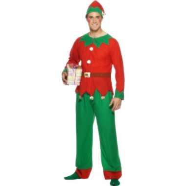 Kostuum  Kerstelf kleding volwassenen carnaval