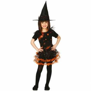 Kostuum  Oranje heksenkleding kinderen carnaval