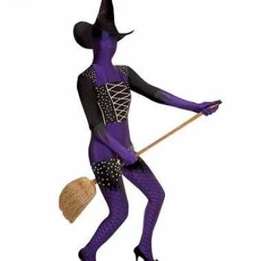 Kostuum paarse heks carnaval