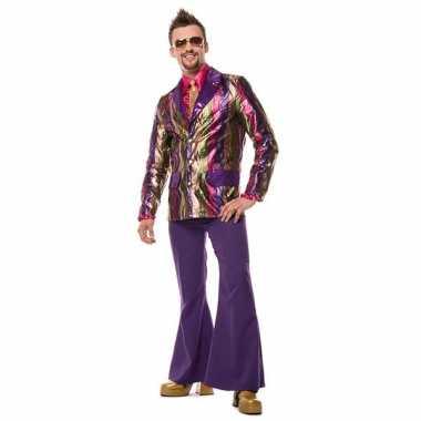 Kostuum  Paarse seventies broek heren carnaval