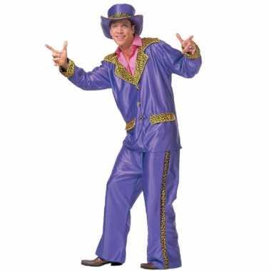 Kostuum paarse verkleed kleding heren carnaval