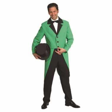 Kostuum  Presentator jas groen carnaval