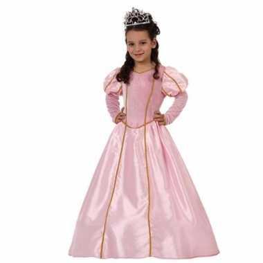 Kostuum prinsessen verkleedjurk roze carnaval