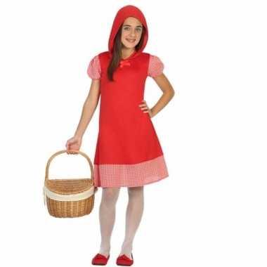 Kostuum roodkapje kinderjurkje meisjes carnaval