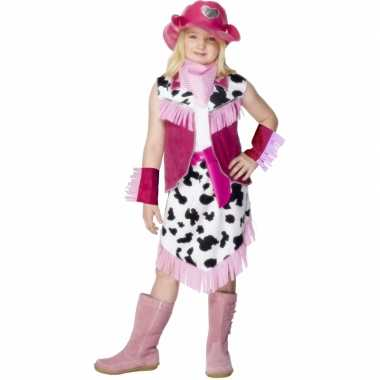 Kostuum  Roze Cowgirl carnaval kleding kind