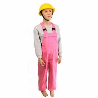 Kostuum  Roze tuinbroek kinderen carnaval