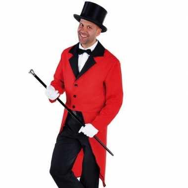 Kostuum slipjas rood bijpassende hoed carnaval