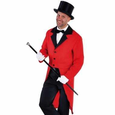 Kostuum slipjas rood bijpassende hoed maat xl carnaval