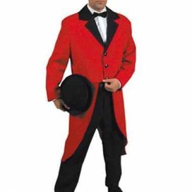 Kostuum  Slipjas rood dames heren carnaval
