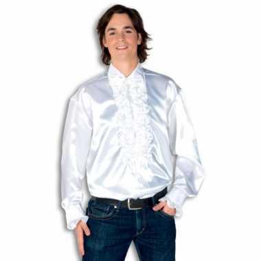 Kostuum wit rouches heren carnaval