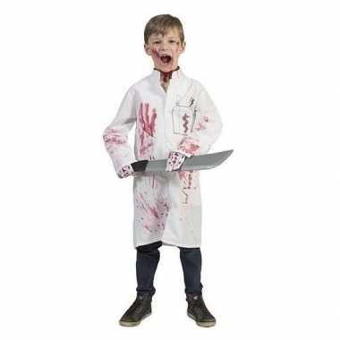 Kostuum witte doktersjas tube nepbloed kinderen maat carnaval