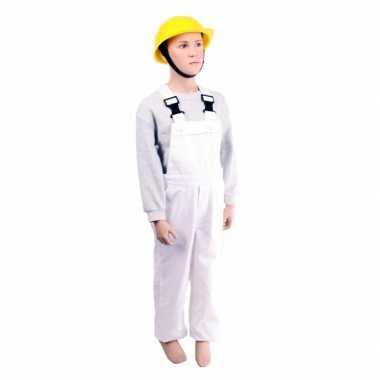 Kostuum  Witte tuinbroek kinderen carnaval