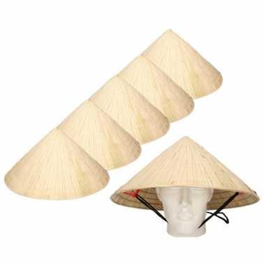 Kostuum x chinese hoeden carnaval