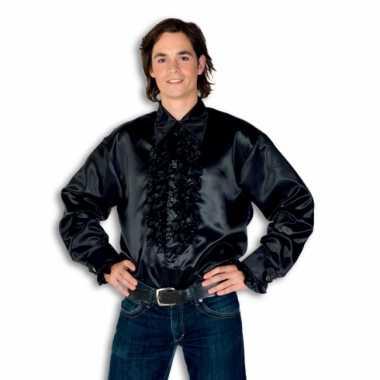 Kostuum zwart rouches heren carnaval