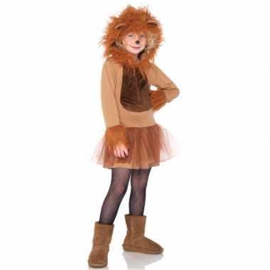 Leeuwen kostuum jurkje meisjes carnaval
