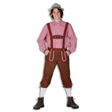 Leuk bruine tiroler kostuum heren carnaval