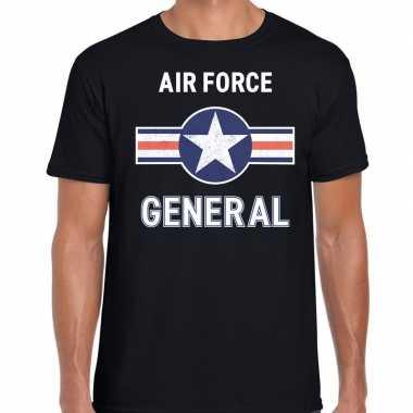 Luchtmacht / air force verkleed t kostuum zwart heren carnaval