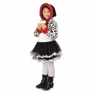 Meisjes dalmatier hond kostuum carnaval