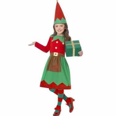 Meisjes kerstelf kostuum carnaval