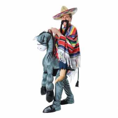 Mexicaan een ezel kostuum carnaval