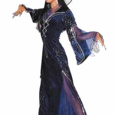 Paars heksenkostuum dames carnaval