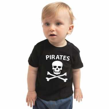 Piraten kostuum zwart babys carnaval