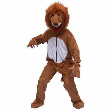 Pluche leeuw kostuum bruin carnaval