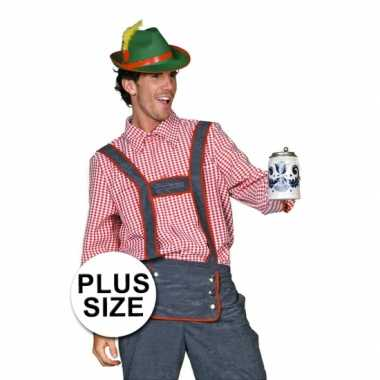 Plus size Tiroler kostuum mannen carnaval