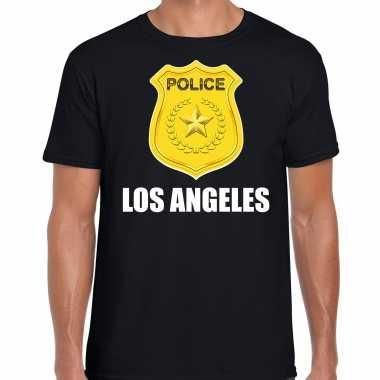 Police / politie embleem los angeles verkleed t kostuum zwart heren carnaval