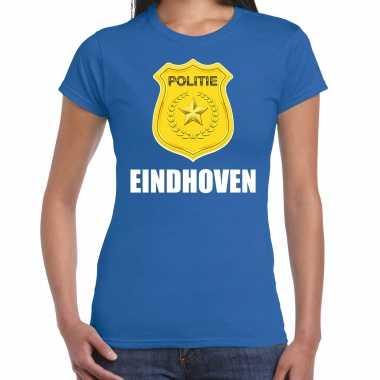 Politie embleem eindhoven carnaval verkleed t kostuum blauw dames