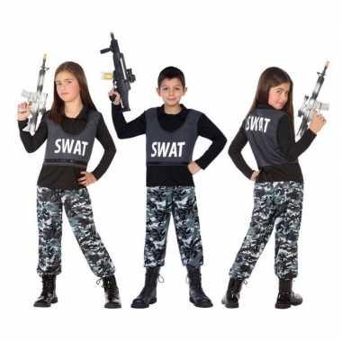 Politie swat verkleed kostuum/kostuum kinderen carnaval