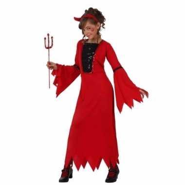 Rode duivelkostuum jurk meisjes carnaval
