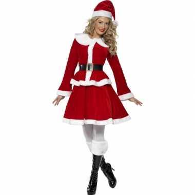 Rode kerst kostuum vrouwen carnaval