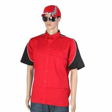 Rode race coureur kostuum pet maat XXL carnaval
