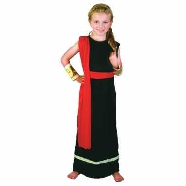 Romeins kostuum zwart rood meiden carnaval