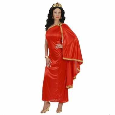 Romeinse dames kostuum jurk rood carnaval