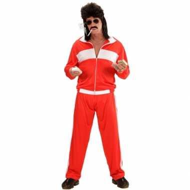 Rood wit carnaval trainingskostuum
