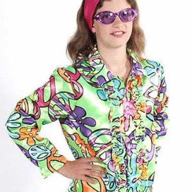 Rouge hippie kostuum peace kids carnaval