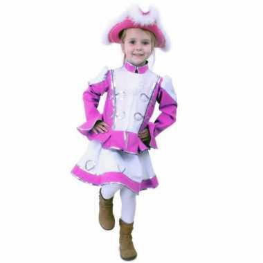 Roze dansmarieke kostuumje meisjes carnaval