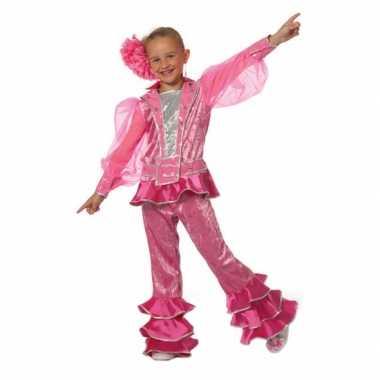 Roze disco kostuum meisjes carnaval