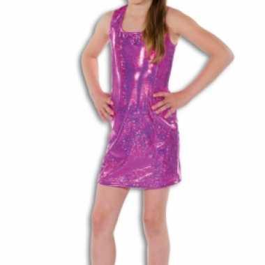 0d2c96f274e727 Roze glitter kostuum jurkje meisjes carnaval