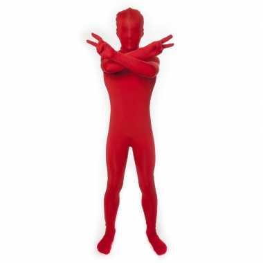 Secon skin kinder kostuum rood carnaval