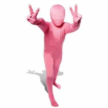 Second skin kinder kostuum roze carnaval